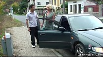Nice granny fucking with young guy