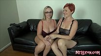 Married Lesbians Play at Swingers Club Image