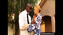 Attractive MILF gets fucked by a black man