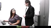Married boss bangs big black secretary