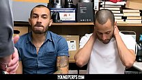 YoungPerps - Two Hot Latino Pervs Caught Upskirting Girls Get Fucked Raw By Security Officer