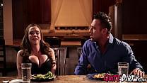 Sexy Ariella Ferrera likes to fuck hard on the kitchen table