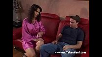 Hot mummy has young lover