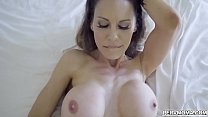 Sexy MILF Mckenzie Lee gets screwed by her pervy stepson until she begs for his cum