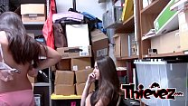 Petite teen whores have to please the perverted officer video