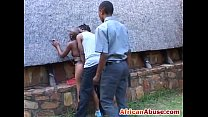 African girl bonded and a. by black guy with huge black cock