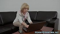 Cummy mouthed granny suck
