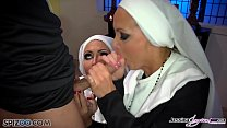 Jessica Jaymes - Mick fucks Jessica and Nikki in the church thumbnail