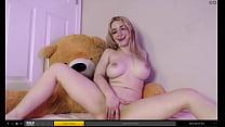 Beautiful blonde masturbating