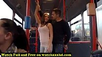 Porn Star Bonnie Shai gropped in the Bus Free image