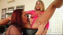 real hot sluts - Lucky blonde lesbo gets her starved cunt licked orgasmicly thumbnail