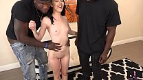 Bambi Black Gets Destroyed By Two Giant Black Dudes thumbnail