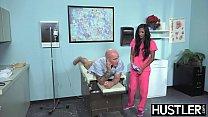 Latina nurse Sadie Santana gets both holes stre...