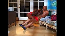 Sexy ebony goddess gets her cunt fucked with big black cock
