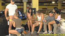 Izabella de Cruz playing blowjob game