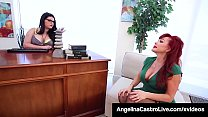 Therapist Angelina Castro StrapOn Fucks Mature Sexy Vanessa! Image