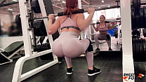 Trainer Hard Ass Fuckes and Facefuckes Redhead After Workout to Anal Creampie