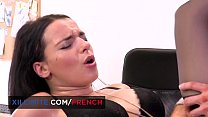 Busty French brunette Sophia Laure fucked at th...