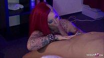 German Redhead - Tattoo MILF Red Storm in privaten Sex Video gefickt Deutsch Vorschaubild