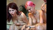 3 Naked Girls Vomit Puke Puking Vomiting Gagging Barf