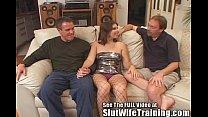 Dana Fulfills Her MFM Three Way Fantasy Slut Wife Training Style!