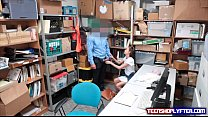 Super cute teen set straight on security guards desk Preview
