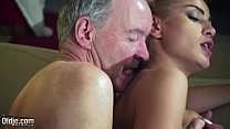 Old Man Dominated by sexy hot babe in old young femdom hardcore fucking preview image
