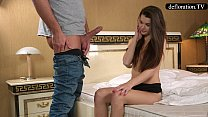 Defloration - a professional takes Mirella's virginity video
