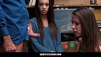 Two Teen Shoplifters Caught And Fucked By A Sec...