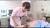 Japanese young nurse fucks her patient