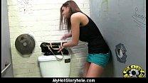 black girl have surprise gloryhole 4