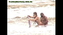 Amateur video of shameless couple fucking on brazilian beach
