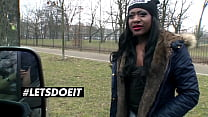 LETSDOEIT - #Josy Black - Ebony Curious Girl Rides White Cock On The Van Fuck And Takes Anal