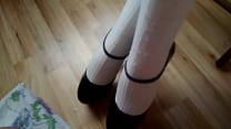 white stockings high heels cumshot