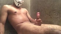 Playing with my cock in the bathroom!  Come to ...