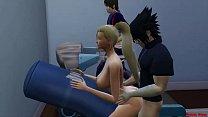 14046 Ino y Sasuke Marido Engañado en Ejercicios Sexual Esposa Follada al frente de su Marido Cornudo Naruto Hentai Netorare preview