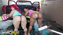 BANGBROS - At The Car Wash With Cherokee & Pinky On Ass Parade!