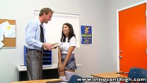 [Sexwithblood] • InnocentHigh Naturally busty schoolgirl Evi Fox fucks teacher thumbnail