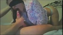 SissyHypnoz.com - Blind folded girl gives delicious blowjob and swallows