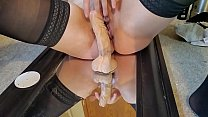 Mirror Dildo Ride And Squirt