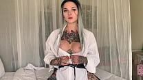 Ciri pouring hot wax oh her pierced tits