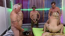 extreme pierced German Milf gets gangbang fisted preview image