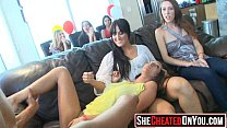 21 This is nuts! These girls go crazy at clucb orgy sucking dick 22