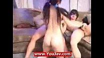 Asian threesome live - korean girl and few other dudes PART 1