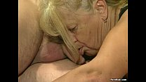 Two granny get fucked in foursome action