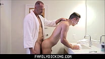 Twink Step Son Taught How To Shave And Get Fucked By His Step Dad