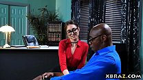 Psychiatrist Riley Reid helps out her big dick patient preview image