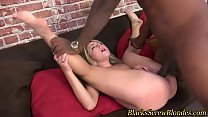 Teen sucks and fucks bbc