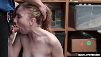 Poor shoplyfter Gracie May Green she need to suck a big cock for a payback!
