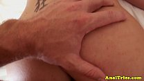 Anal loving girlfriend gets anal massage Image